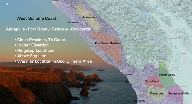 West Sonoma Coast, Annapolis, Fort Ross-Seaview, Occidential, Pinot Noir, Chardonnay, Vineyard