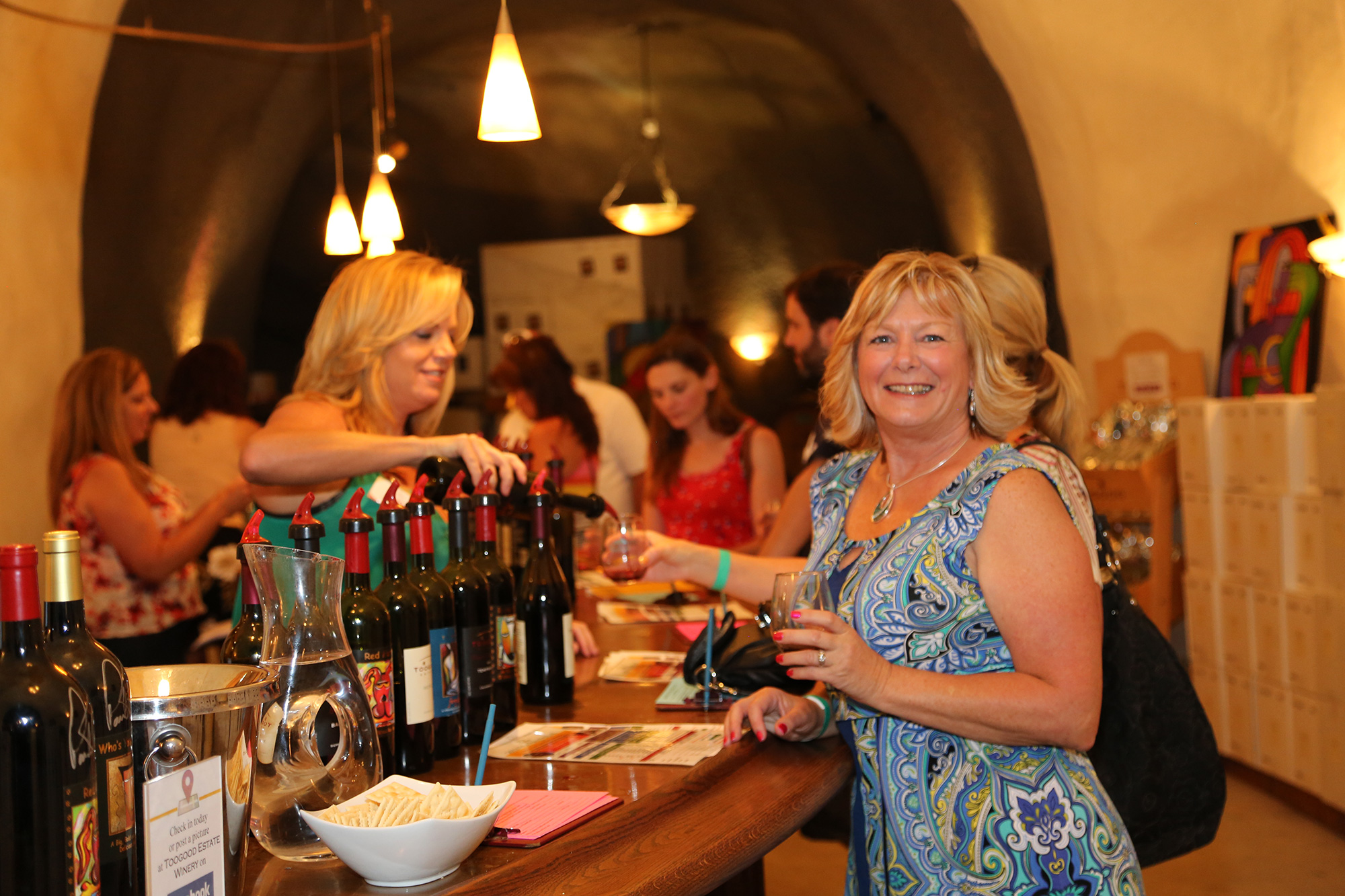 Happy Customers in the Epic Wine Cave
