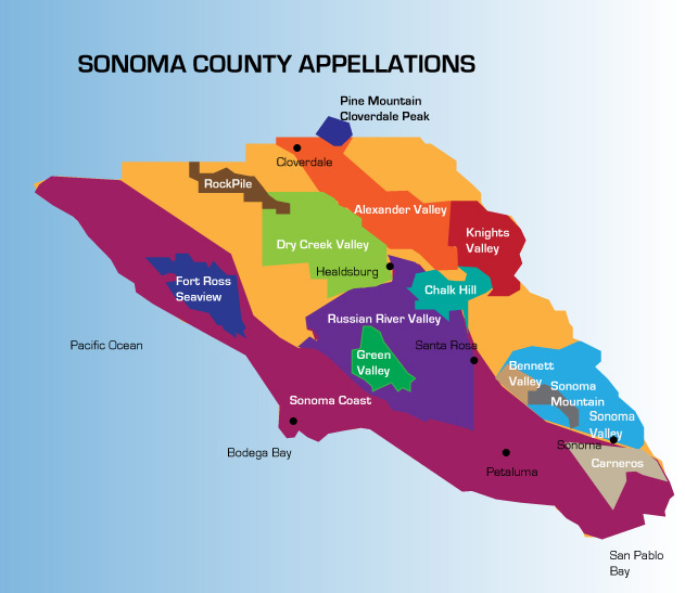 sonoma, sonoma county, appellations, ava, russian river, alexander valley, sonoma valley, sonoma coast, dry creek valley, rockpile, petaluma gap