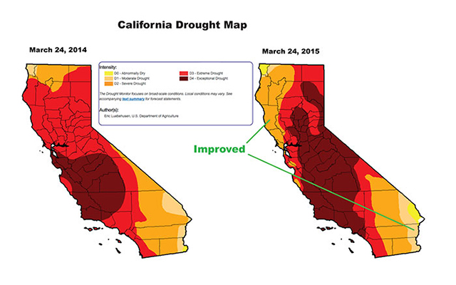 California Drought Map - Vintroux on