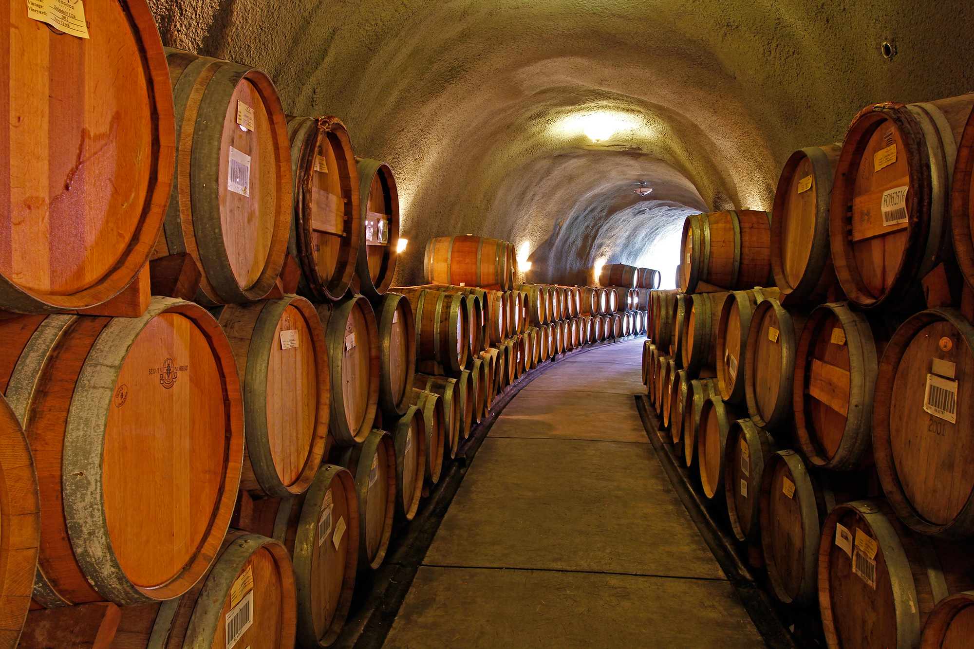 Wine Barrel Storage in The Epic Wine Cave
