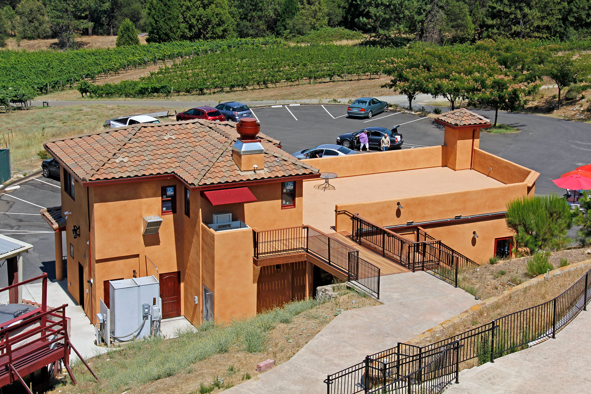 Two Story winery event center with a commercial kitchen